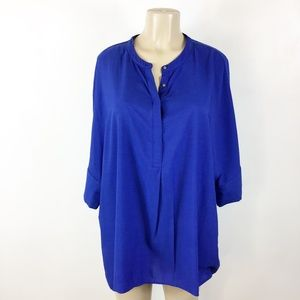 Banana Republic Oversize Blouse Size XL Royal Blue